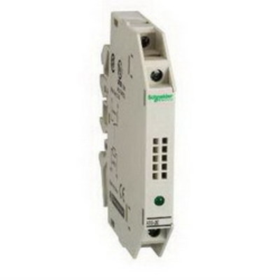Square D by Schneider Electric ABS2EA02EF Schneider Electric / Square D ABS2EA02EF Slim Solid State Interface Relay Module; 250/300 Volt, 1 NC, DIN Rail Mount