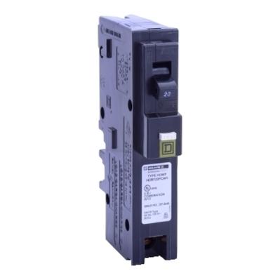 Square D by Schneider Electric HOM120PCAFI Schneider Electric / Square D HOM120PCAFI Neutral Combination Arc-Fault Interrupter; 120/240 Volt AC, 20 Amp, 14-8 AWG (Cu/Al), 1-Pole, Screw Terminal, Plug-In Mount, 21 Inch Length x 13.800 Inch Width x 4.300 Inch Height