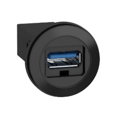 Square D by Schneider Electric XB5PUSB3 Square D XB5PUSB3 Complete Control Button Type A Panel Mounted USB Port, IP20, Plastic