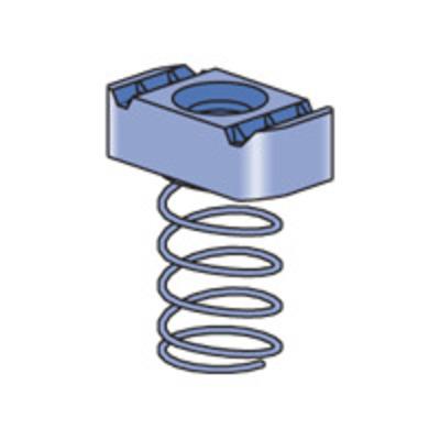 Unistrut P1010-EG Unistrut P1010EG Channel Nut With Spring; 1/2-13, Mild Steel, Electrogalvanized