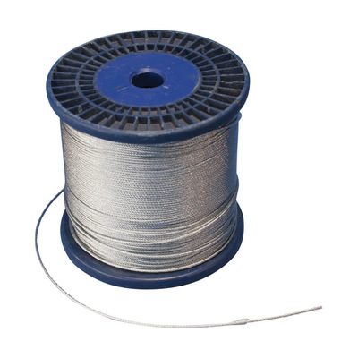 nVent ERICO SLC15L1000SP Erico SLC15L1000SP Caddy® Wire Spool; 1.5 mm Wire Rope Dia x 1000 Inch Length, Steel, Electro Galvanized