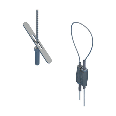 nVent ERICO SLK15L1T Erico SLK15L1T Caddy® Speed Link SLK with Toggle; 55 mm Height x 19 mm Width x 12.5 mm Thickness, Steel, Zinc Alloy, Polypropylene, Electrogalvanized