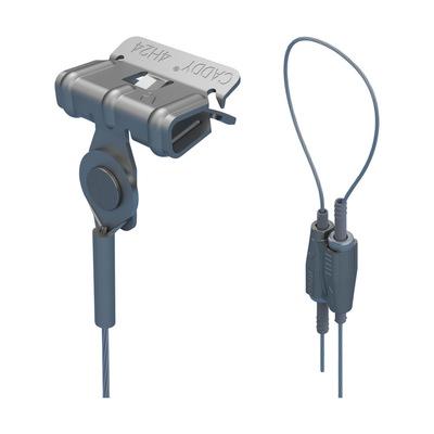 nVent ERICO SLK15L34H24 Erico SLK15L34H24 Caddy® Speed Link SLK with Hammer-on Flange Clip; 55 mm Height x 19 mm Width x 12.5 mm Thickness, Steel, Zinc Alloy, Polypropylene, Electrogalvanized
