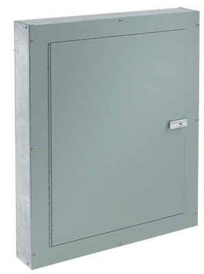 nVent HOFFMAN ATC30244F Hoffman ATC30244F Telephone Cabinet; 30 Inch Length x 24 Inch Width x 4 Inch Thickness, Flush Mount, 16, 14 Or 12 Gauge Galvanized Steel Body, Mild Steel Door, ANSI 61 Gray Polyester Powder