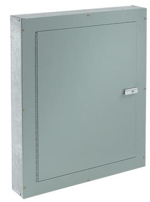 nVent HOFFMAN ATC30306F Hoffman Pentair ATC30306F Telephone Cabinet; 30 Inch Width x 6 Inch Depth x 30 Inch Height, Flush Mount, 16/14/12 Gauge Galvanized Steel, ANSI 61 Gray
