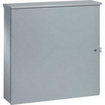 nVent HOFFMAN ATC36R308 Hoffman Pentair ATC36R308 Single Telephone Cabinet; 30 Inch Width x 8 Inch Depth x 36 Inch Height, 16/14 Gauge Galvanized Steel, ANSI 61 Gray