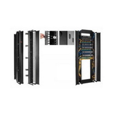 nVent HOFFMAN DV6D8 Hoffman DV6D8 Double-Sided Posts and Gates Vertical Cable Manager; 6.250 Inch Width x 7.120 Inch Depth x 96 Inch Height, 51-Rack Unit, RAL 9005 Black