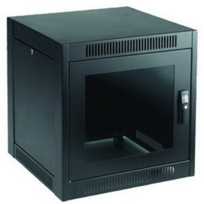 nVent HOFFMAN ENC766SH Hoffman ENC766SH Solid Top SOHO Cabinet; 11-Rack Unit, RAL 9005 Black