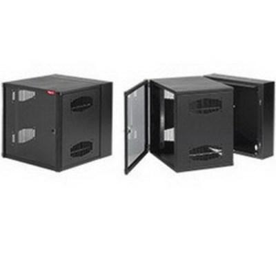 nVent HOFFMAN EWMS242418 Hoffman EWMS242418 Accessplus II Type 1 Solid Door Double-Hinged Data Cabinet; Wall Mount, 12-Rack Unit, RAL 9005 Black
