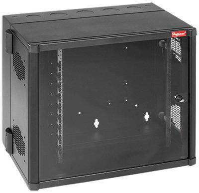 nVent HOFFMAN EWMW242825 Hoffman EWMW242825 Accessplus II Type 1 Window Door Double-Hinged Data Cabinet With Cable Manager; Wall Mount, 12-Rack Unit, Black