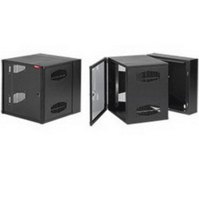 nVent HOFFMAN EWMW722425 Hoffman EWMW722425 Accessplus II Type 1 Window Door Double-Hinged Data Cabinet; Wall Mount, 39-Rack Unit, Black