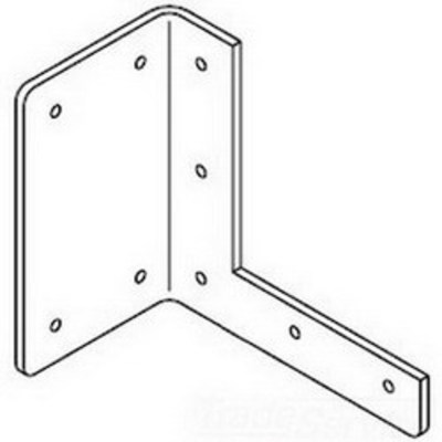 nVent HOFFMAN F44HB Hoffman F44HB Bracket Hanger For Lay-In Wireway; 4 Inch x 4 Inch, Steel, ANSI 61 Gray