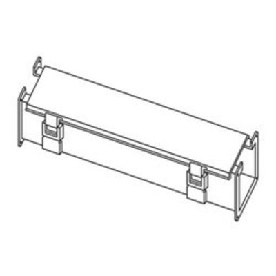 nVent HOFFMAN F44L24 Hoffman F44L24 Straight Section; 24 Inch x 4 Inch x 4 Inch, 14 Gauge Steel, ANSI 61 Gray