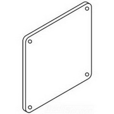 nVent HOFFMAN F44LP Hoffman F44LP Closure Plate For Lay-In Wireway; 4 Inch x 4 Inch, Steel, ANSI 61 Gray