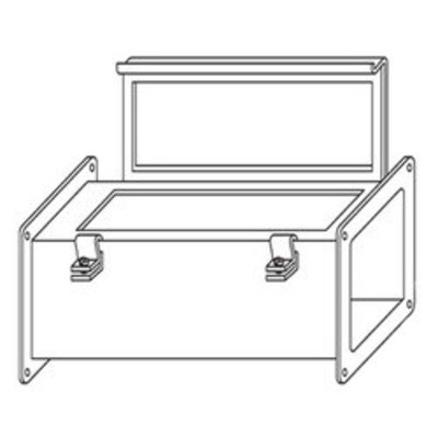 nVent HOFFMAN F66W60 Hoffman F66W60 Straight Section; 60 Inch x 6 Inch x 7.620 Inch, 14 Gauge Steel, ANSI 61 Gray