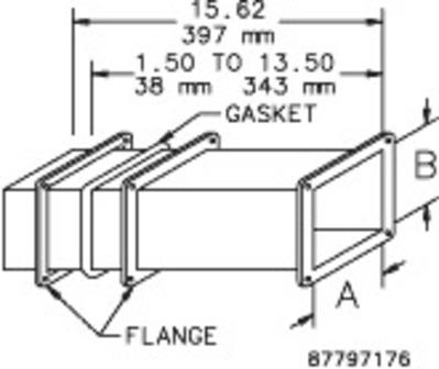 nVent HOFFMAN F66WA Hoffman F66WA Telescope Fitting For Feed-Through Wireway; 6 Inch x 6 Inch, Steel, ANSI 61 Gray
