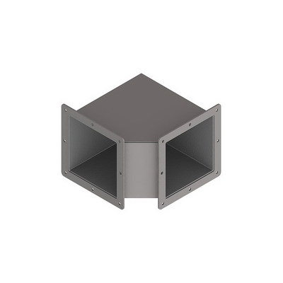nVent HOFFMAN F66WE90 Hoffman F66WE90 90 Degree Elbow For Feed-Through Wireway; 6 Inch x 6 Inch, Steel, ANSI 61 Gray