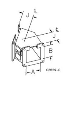 nVent HOFFMAN F88LE45A Hoffman F88LE45A Top Opening 45 Degree Elbow For Lay-In Wireway; 8 Inch x 8 Inch, Steel
