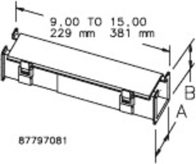 nVent HOFFMAN F88LXL Hoffman F88LXL Lay-In Wireway Cut-Off Fitting; Steel, 8 Inch x 8 Inch x 3 Inch