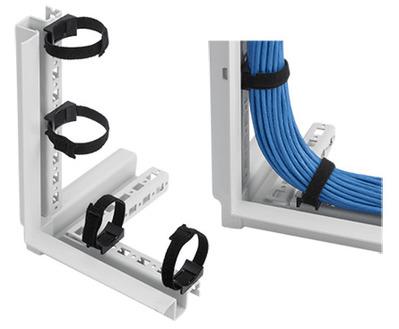 nVent HOFFMAN PCMFTD10 Hoffman Pentair PCMFTD10 PROLINE™ VELCRO® 10 Inch Frame Tie-Down Bracket; Black
