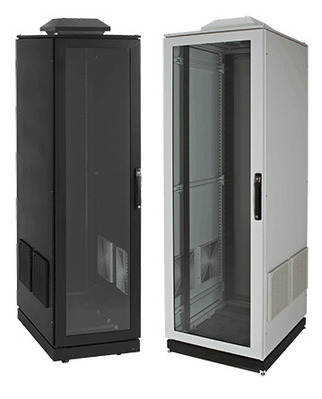 nVent HOFFMAN PDCP2078BFP Hoffman PDCP2078BFP Pentair®, Proline® Tapped Voice/Data Cabinet; 799 mm Width x 708 mm Depth x 2203 mm Height, Steel Frame/Doors/Sides, RAL 9005 Black